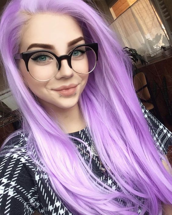 anilina roxa nos cabelos