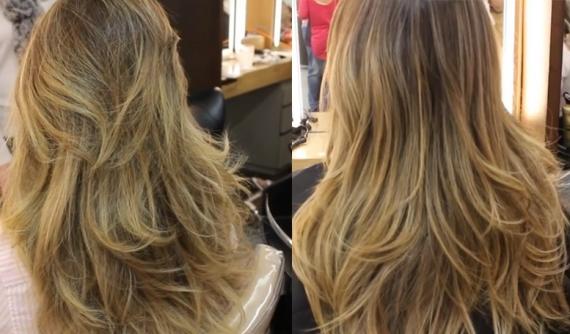 Corte bordado - antes e depois