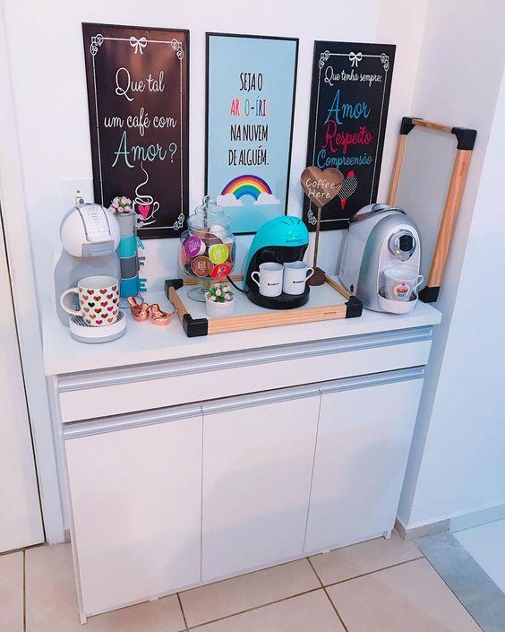cantinho do café colorido