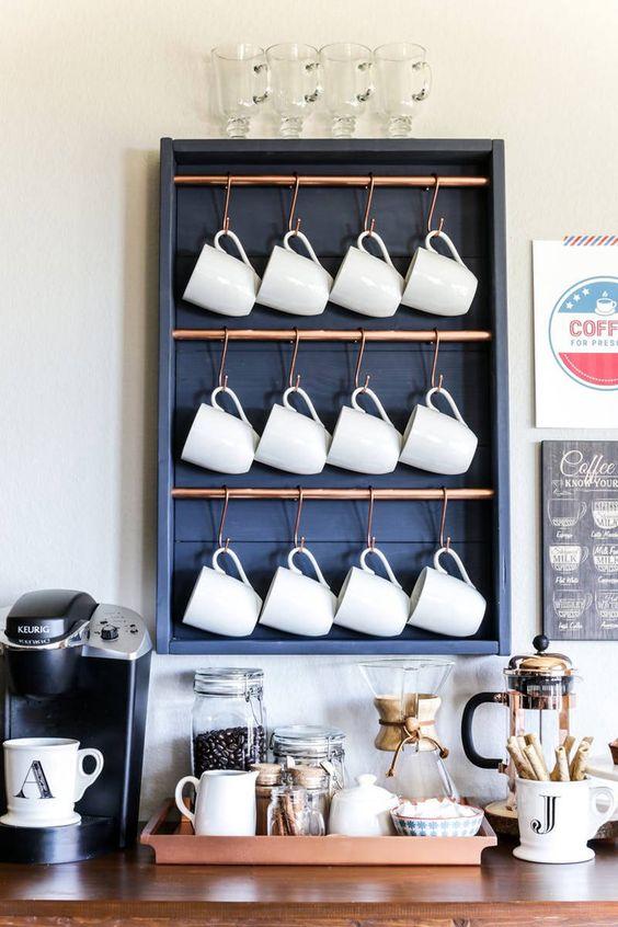 como decorar o cantinho do café