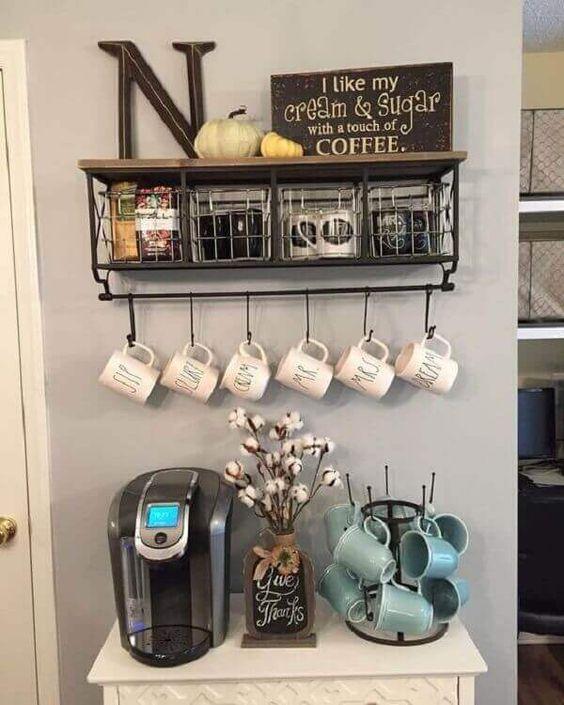 decoração de cantinho do café