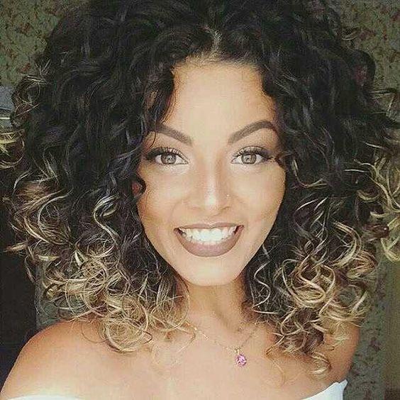 Fotos de Ombré Hair para cabelos cacheados