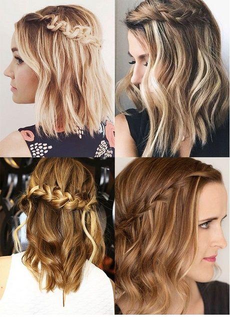 Penteados para festa 2019 cabelos médios com tranças