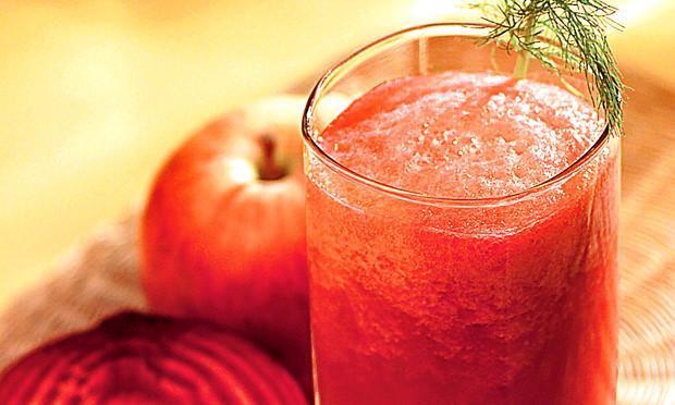 Receita de suco de beterraba com maçã