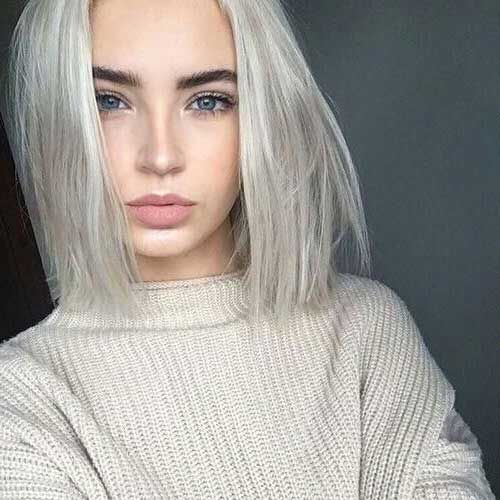 modelos de Cabelo curto loiro platinado