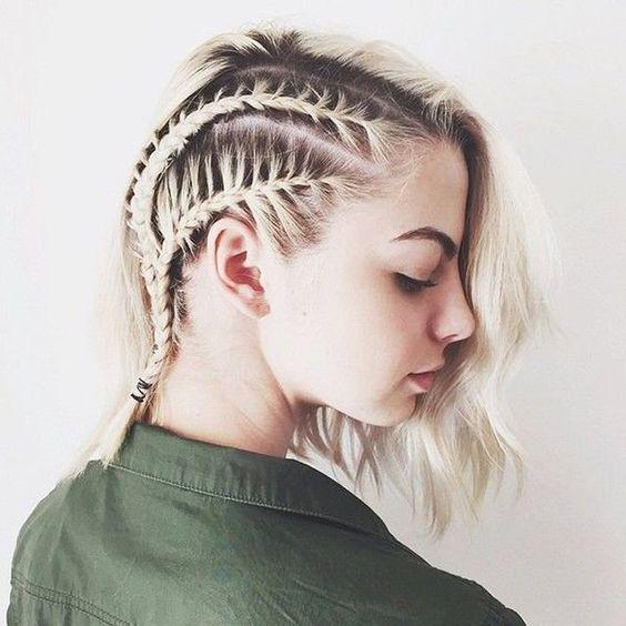Tranças para cabelo curtos