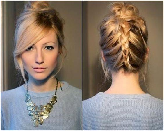 penteados com Tranças para cabelo curtos