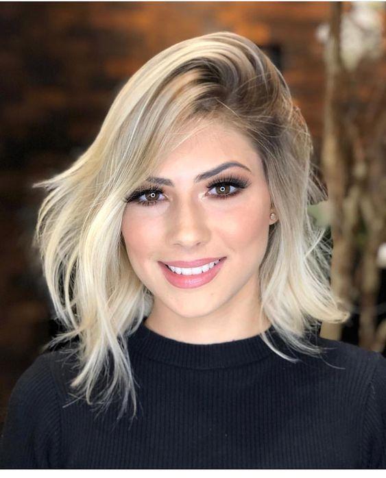 penteados curto loiro