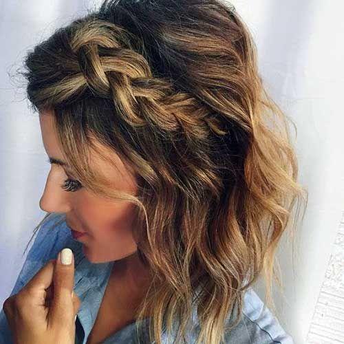 Trança lateral para cabelo curto