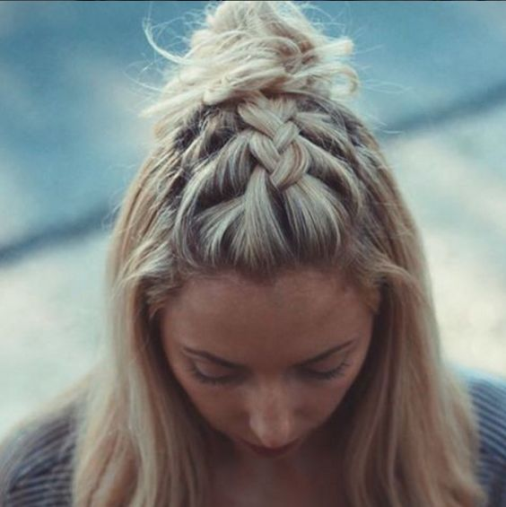 Trança unicórnio para cabelos curtos