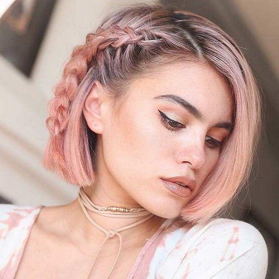 Trança para cabelos curto colorido