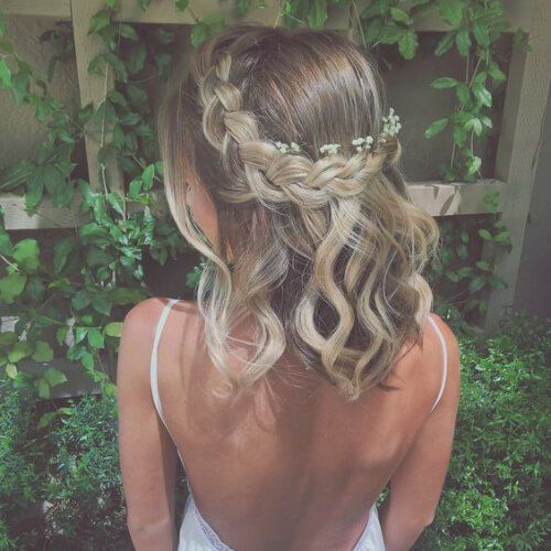 Trança para cabelos curto romântico