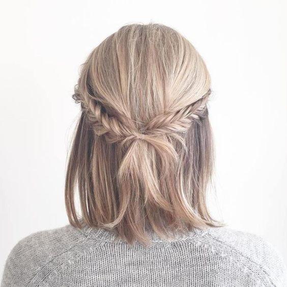 Trança para cabelos curtos dicas