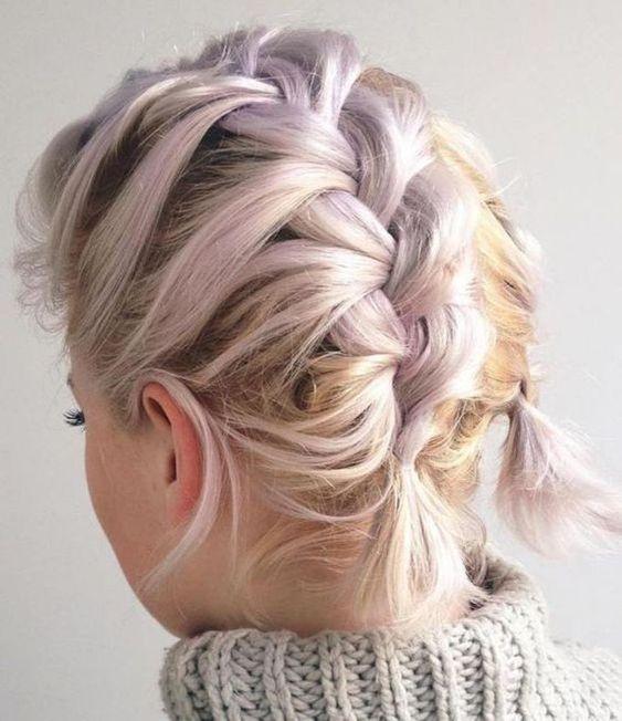 Trança para cabelos curtos fáceis