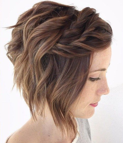 Trança para cabelos curtos foto