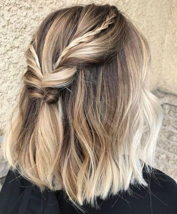 Trança para cabelos curtos perfeitos