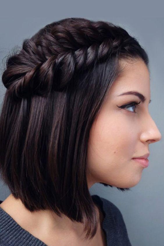 Trança para cabelos curtos