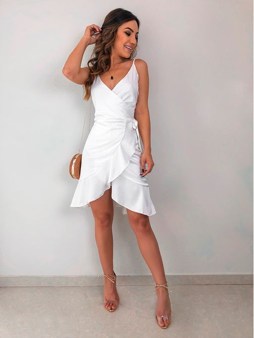 Vestidos para baixinhas 2020 branco