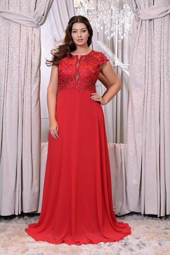 Vestido Plus size 2020 vermelho