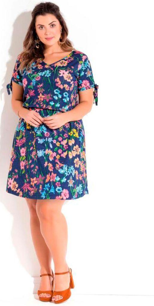 Vestido Plus size básico moda 2020