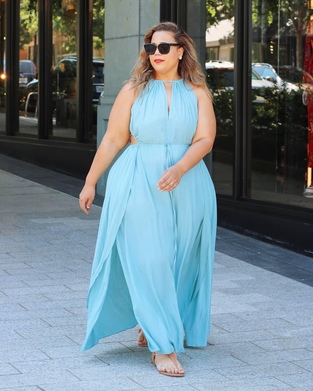 Vestido Plus size longo estilosos