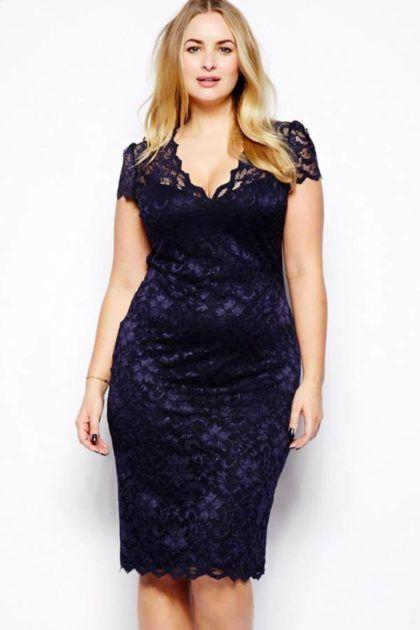 Vestidos Plus size 2020: Modelos de vestidos de Renda